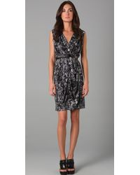 Doo. Ri - Belted Dress with Front Drape - Lyst