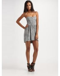 Seneca Rising - Abigail Dress In Abstract Stripes - Lyst