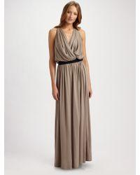 Robert Rodriguez Draped Jersey Maxi Dress - Lyst