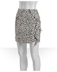 Leifsdottir - Loves Me Brown Floral Printed Silk Skirt - Lyst