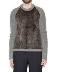 Burberry Prorsum Chunky Wool Cashmere and Rabbit Sweater - Lyst