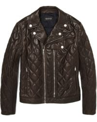Gucci Quilted Leather Biker Jacket - Lyst