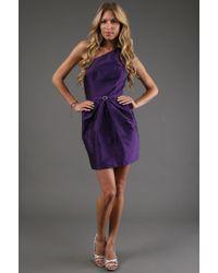 Alexia Admor One Shoulder Tulip Dress - Lyst