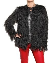 American Retro - Ostrich Feather Jacket - Lyst