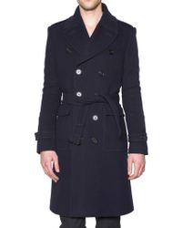 Burberry Prorsum Double Faced Wool Trench Coat - Lyst
