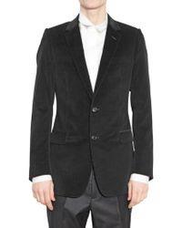 Dior Homme Ribbed Velvet Jacket black - Lyst