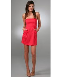 Theory Tyrah Dress in Red | Lyst