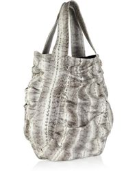 Beirn - Jenna Ruched Snakeskin Tote - Lyst