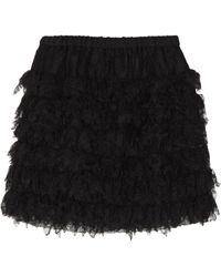 Cynthia Rowley Tiered Lace Mini Skirt - Lyst
