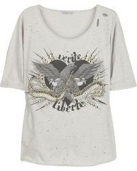 Sass & Bide Verite Et Liberte Embellished Cotton T-shirt - Lyst