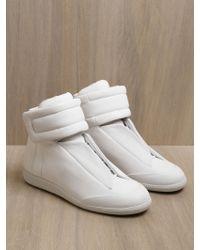 Maison Margiela 22 White High Top Sneaker white - Lyst