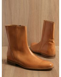 Mr. Hare Men Spector Leather Half Boots Tan