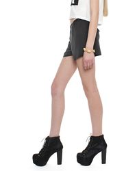 T By Alexander Wang Silk Crepe De Chine Shorts - Lyst