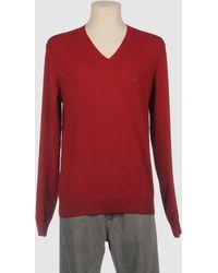 Aquascutum Red Cashmere Sweater - Lyst