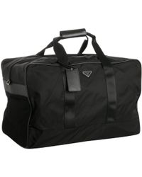 black nylon prada bag