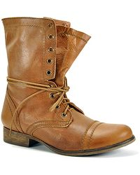 Steve Madden Troopa - Tan Leather Combat Boot - Lyst
