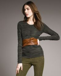 Burberry Prorsum - Ruched Long-sleeve Top - Lyst
