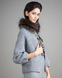 Carolina Herrera Fur-collar Jacket - Lyst