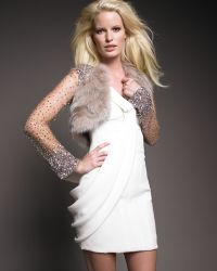 J. Mendel - Long-sleeve Sequin Fur Bolero - Lyst