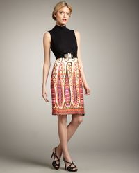 Milly Jennie Combo Dress - Lyst