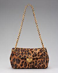 Prada Cavallino Leopard-print Hair Calf Chain Bag - Lyst
