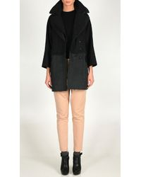 Tibi Felted Wool Stella Convertible Coat - Lyst