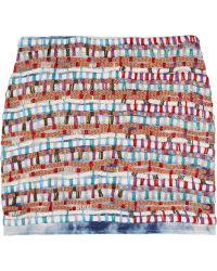 Gryphon - Embroidered Silk-blend Mini Skirt - Lyst