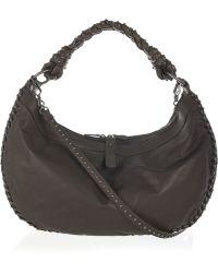 Bottega Veneta Studded Leather Shoulder Bag - Lyst