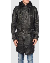 DIESEL | Leather Outerwear | Lyst