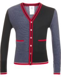 Black Fleece Contrast Cardigan - Lyst
