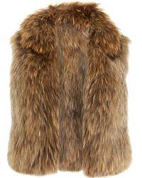 Co. Short Knit Fur Vest - Lyst
