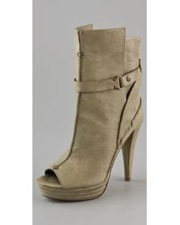 7 For All Mankind - Raven Open Toe Booties - Lyst
