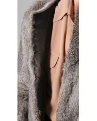 Hanii Y - Rabbit Fur Jacket - Lyst