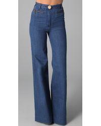 Lover Wide Leg Jeans blue - Lyst