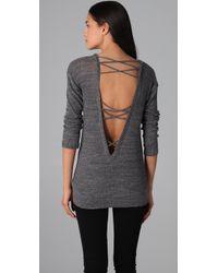 Nightcap - Open Back Sweater - Lyst