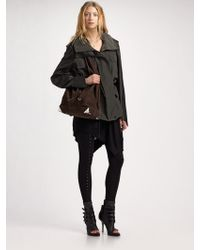 Alexander Wang | Anorak with Leather Sleeves | Lyst