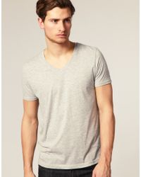 ASOS Collection Asos V-neck T-shirt - Lyst