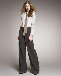 Chloé High-waist Wide-leg Pants - Lyst