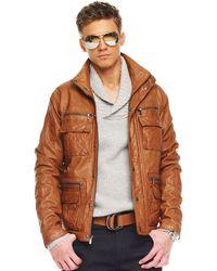 Michael Kors Multi-pocket Leather Jacket - Lyst