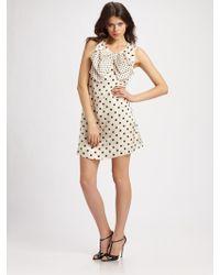 Sonia by Sonia Rykiel Polka Dot Dress with Bow - Lyst