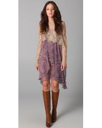Zimmermann Paisley Dress with Lace Top - Lyst