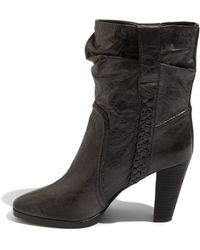 7 For All Mankind Pierce - Black Leather Bootie - Lyst