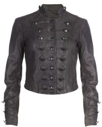 AllSaints Brocade Cropped Jacket - Lyst