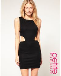 ASOS Collection Asos Petite Cut Out Side Bodycon Dress - Lyst