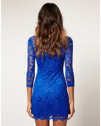 ASOS - Asos Lace Dress with Scalloped Neck - Lyst