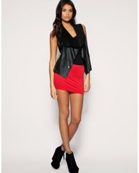 ASOS Collection Asos Jersey Micro Mini Skirt - Lyst