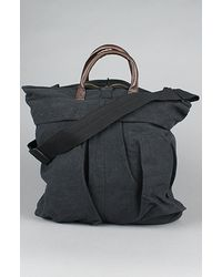 Rothco The Vintage Canvas Helmet Bag With Leather Handle black - Lyst