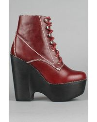 Jeffrey Campbell The Tardy Shoe in Red - Lyst