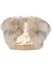Liska Fox Fur Bolero - Lyst