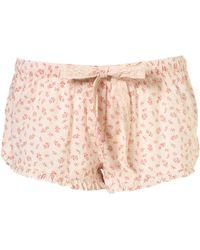 Topshop Vintage Woodblock Shorts - Lyst